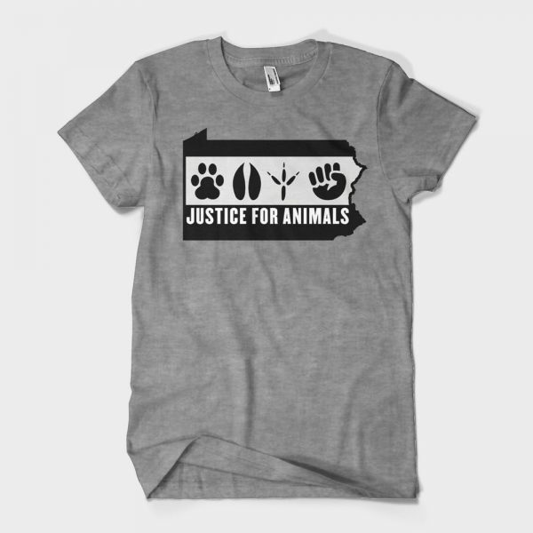 Justice for Animals Grey T-Shirt